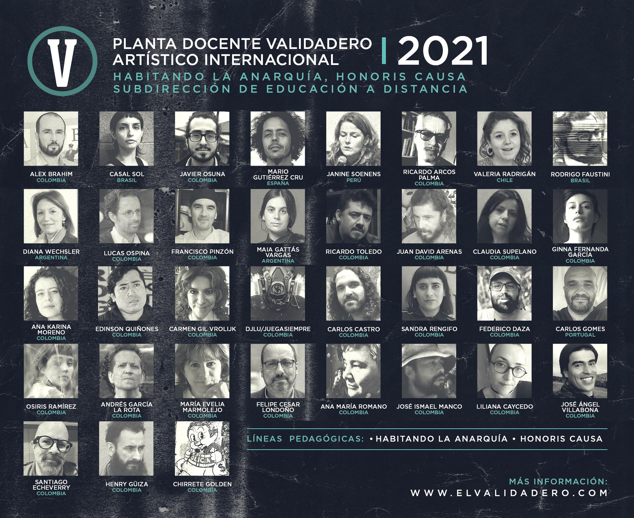 Planta docente 2021   El Validadero Artístico